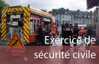 Exercice de sécurité civile - Simulation d'un accident de la circulation