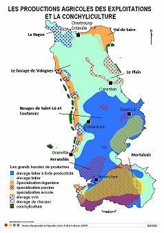Carte Des Productions Agricoles Exploitations Et La Conchyliculture