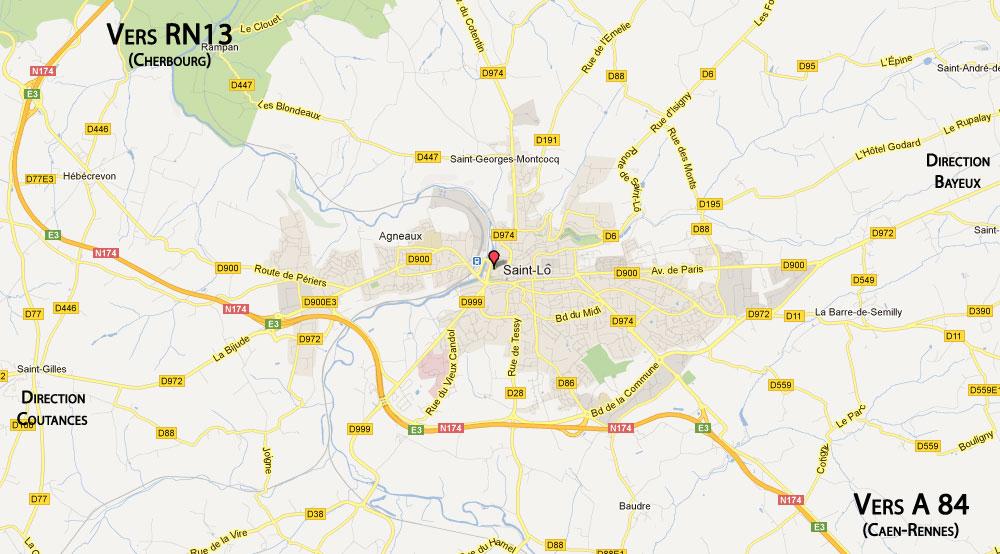 Plan De La Ville De St Lo